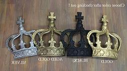 King CROWN or Queen Prince Wall Art Princess Metal England ""