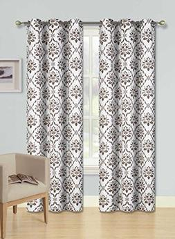 GorgeousHomeLinen  1 Panel 2 Tone Printed Design Room Darken