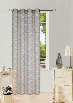 GorgeousHomeLinen  2 PC Pattern Design Voile Sheer Two-Tone