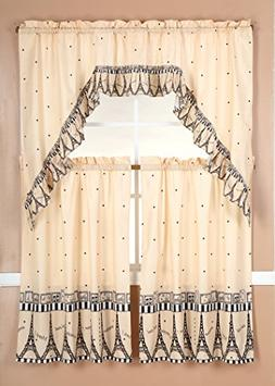 GorgeousHomeLinenDifferent Designs 3pc Kitchen Window Ruffle