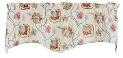 """Gracie Luxury Embroidered Valance Curtain 52""""W X 16""""L"""