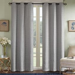 Comfort Spaces - Grasscloth Window Curtain Pair/Set of 2 Pan