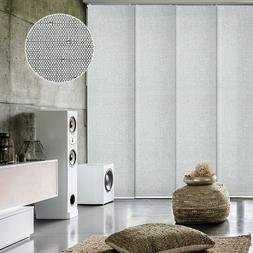 Gray Adjustable Sliding Panel Track Shade Vertical Blind Pan