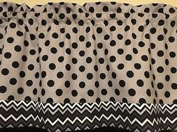 Gray Black Polka Dot White Chevron Trim Kitchen Bedroom Wind