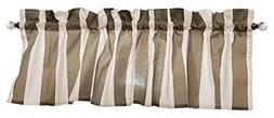 Gray Curtain Valance for Windows - Crabtree Collection - Nob