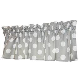 Crabtree Collection Gray Curtain Valance for Windows Noble G
