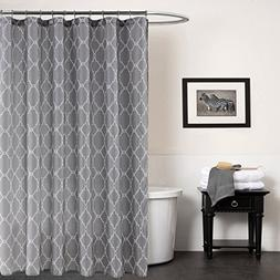 KindoBest Gray Geometry Pattern Shower Curtains for Bathroom