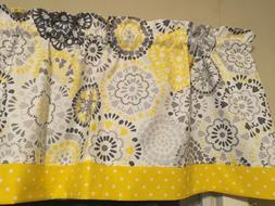 Gray White Yellow Floral Flower Polka Dot Bedroom Kitchen Wi