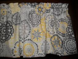 Gray Yellow Circle Polka Dot retro waverly fabric kitchen cu