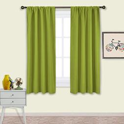NICETOWN Green Blackout Draperies Curtains - Thermal Insulat