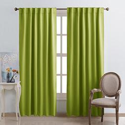 NICETOWN Green Curtains Blackout Drape Panels -  W52 x L84,