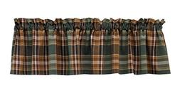 Green, Tan & Brown Earthy Plaid Wood River Valance by Park D