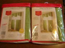 Green Kitchen Curtains Tiers only 2 Sets Better Homes and Ga