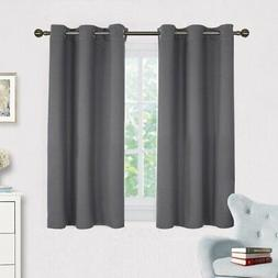 grey blackout curtain panels for bedroom thermal