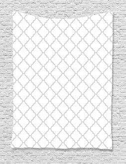 Grey Decor Tapestry Wall Hanging By Ambesonne, Simple Monoch