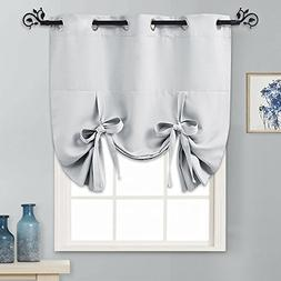 PONY DANCE Tie Up Curtain - Bedroom Window Shade Room Darken