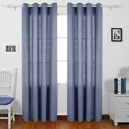 Deconovo Grommet Curtains Recycled Cotton Curtains for Boys