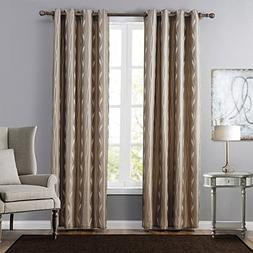 Leyden  Grommet Top Insulated Leaf Patterns Jacquard Window