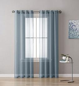 "Grommet Semi-Sheer Curtains - 2 Pieces - 54"" W x 72"" L - Eac"