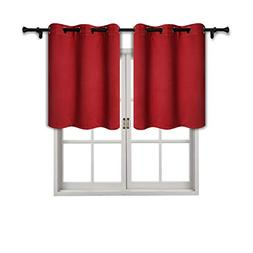 SUO AI TEXTILE Grommet Tier Valance for Living Room-Thermal
