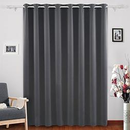 Deconovo Grommet Top Window Curtains Room Darkening Wide Cur