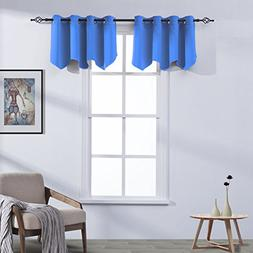 Aquazolax Grommets Top Scalloped Valances for Kitchen Readym