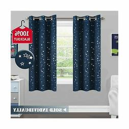 H.VERSAILTEX 100% Blackout Curtain Thermal Insulated Navy St