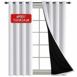 H.VERSAILTEX 100% Total Blackout Curtains With Black Liner T
