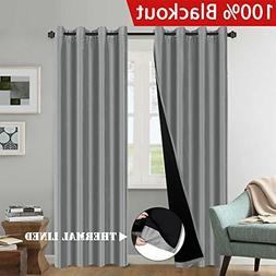 H.VERSAILTEX 2 Panels 100% Blackout Total Shade Curtains and