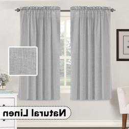 Living Room Linen Curtains Home Decorative Privacy Window Tr