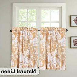 h versailtex natural linen kitchen curtain tier
