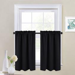 NICETOWN Black Out Valances for Kitchen - Rod Pocket Tailore