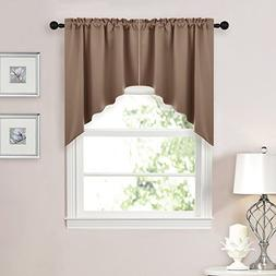 NICETOWN Half Window Rod Pocket Kitchen Tier Curtains- Tailo