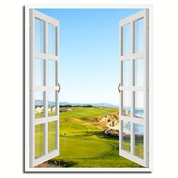 Halfmoon Bay California Golf Course Picture 3D French Window
