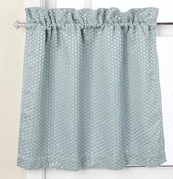 United Curtain Hamden Woven Waffle Kitchen Tiers, 55 by 36-I