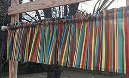 Handcrafted Valance Sewn From Patty Reed Jungle Babies Strip