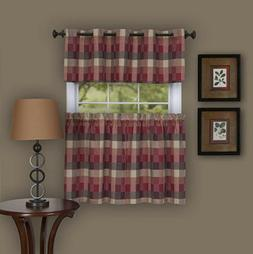 Achim Home Furnishings Harvard Pair Window Curtain Tier, 57""