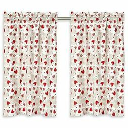 Hearts & Lace Cafe Curtains 28 Inches W x 30 Inches L, Set o
