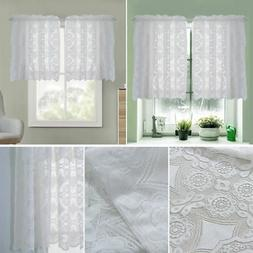 heavy white lace hopewell kitchen curtain choice