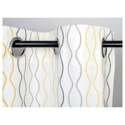 🌺Ikea Henny Rand Curtains 1 Pair White Gray Yellow 57x984