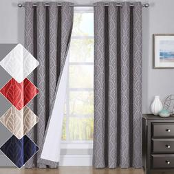 HILTON Window Treatment Thermal Insulated Grommet Blackout C