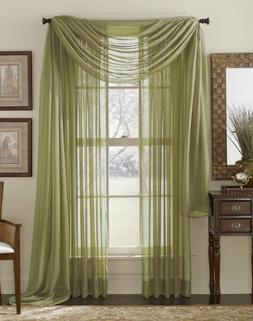 HLCME Sage Green 2 Pack 55 inch by 84 inch Window Curtain Sh