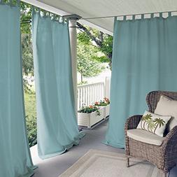 Elrene Home Fashions 26865874389 Indoor/Outdoor Solid Tab To
