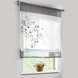 WPKIRA Home Fashion Small Coffee Curtain Rod Pocket Kitchen