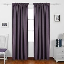 Deconovo Home Decorations Thermal Insulated Faux Linen Panel