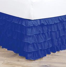 Empire Home Pleated Ruffled Bed Skirt Solid Dust Ruffle All