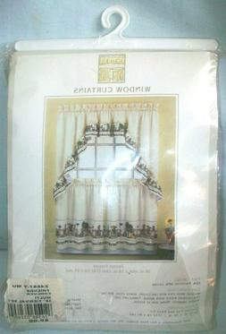 """Home Stead Curtain Set Friends Forever 56""""x 36"""" Kitchen"""