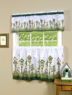 Home Sweet Home Complete 3 Pc. Kitchen Curtain Set - Assorte