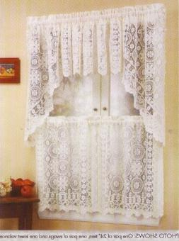 LORRAINE HOME FASHIONS Hopewell Lace Kitchen Curtain - 36 Ti