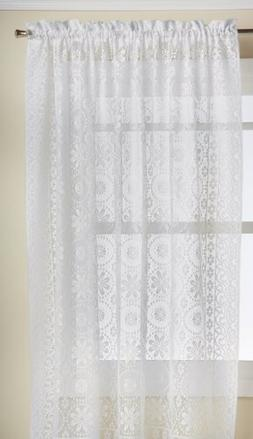 Lorraine Home Fashions Hopewell Lace Window Curtain Panel, 5